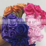 Factory Price Mini Satin Rose Artificial Flowers For Wedding Car Decoration DIY material Fake Flowers