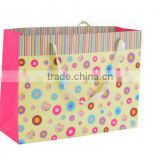 Gift decoration 70-250 gsm color printed shopping paper handle bags