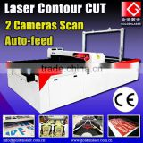 printed sublimation fabric cutter / laser contour cutting printed apparel