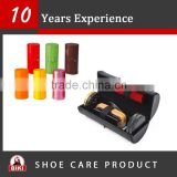 OEM and ODM leather shoe care set for travel