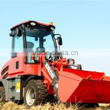 Everun Brand ER08 CE certificated Agricultural Machinery Mini Wheel Loader for Farm And Land with Pallet Forks/4 in 1 Bucket
