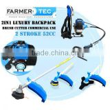 52CC POWERFUL 2 IN 1 PETROL BACKPACK BRUSH CUTTER STRIMMER GRASS LINE TRIMMER ZENOAH TYPE WITH BUMP LINE CUTTER AND 3T BLADE