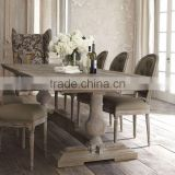 French Country Style Wooden Dining Room Set, Vintage and Retro Solid Wood Long Dinning Table and Chairs Set (BF01-X1161)