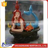 Life size beautiful resin mermaid statue for sale NTRS-063LI