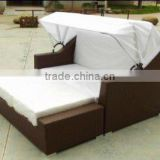 outdoor rattan lounge or beach lounge