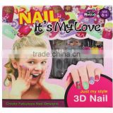 New design water transfer creative nail art for girls