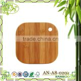 Aonong Tastefully Easy Moso Bamboo Cheese Board Square Butcher Block Sturdy Chopping Block