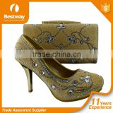 cheap price unique fashion style TOP-rated party shoes and matching bags dress shoes and matching bags for lady MG1007