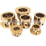 Self-lubricating graphite bronze bushing bearing