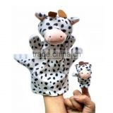 Hand Puppets Stuffed Baby Toys Cloth Dolls Cartoon Cute All in The Family Educational Toys