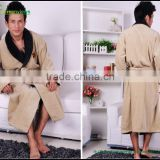 Cotton robes Boy shawl collar bathing robes Embroidered cotton quick drying bathrobe egyptian cotton bath robes