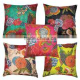 Wholesale lots of HANDMADE KANTHA WORK CUSHION COVERS at amazing discounted prices directly from factory