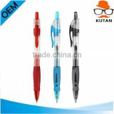 Promotional Color Plastic Screamer retractable click pen with Rubber Grip and custom logo