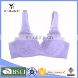 Hot Selling Pretty Pattern Comfortable Lace Underwired Nylon/Cotton New Model Ladies Bra