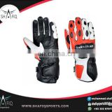 Motorbike Racing Wears/ Biker Leather Gloves made of high Quality Leather