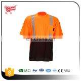Pink cheap safety reflective uniform shirt with OEM design KF-137