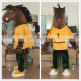 HI EN71 customized horse mascot cosutme for hot sale,funny mascot costume with high quality