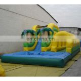 inflatable bounser slide water pool obstacle combo