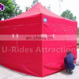 Red Color Large Capacity Steel Folding Tent For Sale
