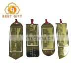 Top Grade Custom Brass Sets Metal Bookmark For Souvenir