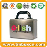 Metal Handle Lunch Tin with Lock for Gift Packaging Box