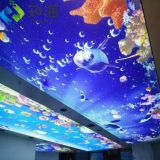 factory supply new interior decoration material led light box uv print ocean design 3d pvc stretch ceiling film