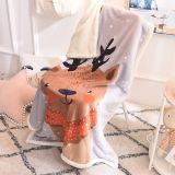 Cartoon winter double thickening coral lambskin lunch break blanket flannel baby blanket children blanket