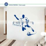 We are champion! Blue Football boy Removable sport Vinyl Wall Decal Stickers