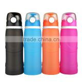 Sports flat foldable water bottle