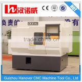 "China cnc metal processing machine CKX36L slant bed design 5"" hydraulic chuck gang tool linear guideway small lathe machine"
