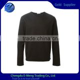 New Custom Design Fashion Plain Heavy Plain Sweatshirts in Black