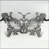 Artificial Metal Beauty Rhinestone Butterfly Type Female Sex Carnival Mask for Christmas with Crystals