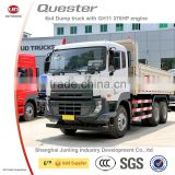 6x4 heavy Nissan diesel dump truck with hydraulic hoist(model Quester)