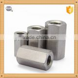 Professional nut factory 304 stainless steel or 1008 iron hex coupling nut with cheap price