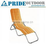Outdoor Lounger Chair Backrest With Armrest Garden Portable Beach Pool Aluminium Sun Lazy Lounger