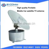 Hot sale!! mobile satellite antenna for car E-YM180 with gyro tracking and stability receiving