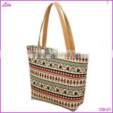 2016 Brand New Women Canvas Bags Tote Large Capacity Shoulder Bag Women Handbag Retro Zipper Casual Beach Bag bolsas femininas