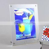 wall mounted sandwich Acrylic Photo frame with screw wall hanging poster acrylic display holder