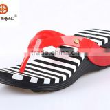 2015 new products Eva wedge flip flops cheap wholesale pvc shoe jelly slippers plastic woman sandals