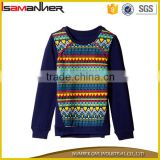 New design long sleeve embroidered folk style sweater designs for kids