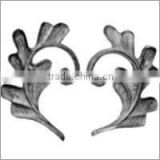 wrought iron leaves, hot stamped leaves, steel cast leaves