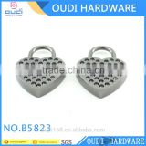 Heart Shape Lock Promotional Bag Decoration Padlock Bag Accessories For Handbag Lock Decoration