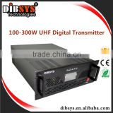 Air-Cooled Anti Interference UHF Terrestrial TV broadcast Transmitter 200W/300W 80MHz with digital tv antenna