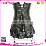 Free Sample Black Tight Sexy Leather Corset Pattern