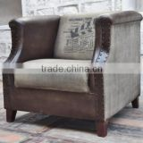 VINTAGE INDUSTRIAL CANVAS & LEATHER SOFA ,Industrial Furniture manufacturers india