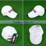 new design embroidery dry-fit cotton golf cap with side pocket                                                                         Quality Choice