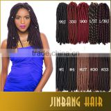 Janet Collection 2X Havana Mambo Twist Synthetic Dreadlocs New Premium Faux Locs Braids Crochet Twist Braid Hair dreadlocks