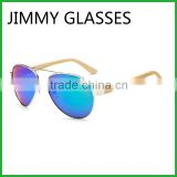 JMP614 Aviator Metal Bamboo UV Sunglasses