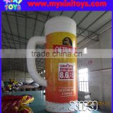 XIXI Advertising Giant PVC Inflatable Beer Mug for sale