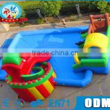 Fun Inflatable Outdoor Giant Water Pool with Slide and bouncer for sale